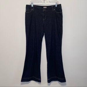 J. Jill Flare Leg Stretch Denim Jeans
